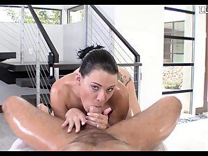 providing Peta Jensen a oiled sausage down her lubricious twat