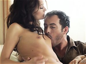 Sophie Lynx gobbling her mans firm man-meat