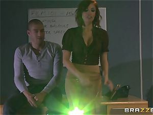 red-hot sandy-haired lecturer Britney Amber flashes student how its done