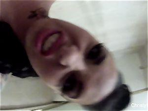 chesty star Christy Mack takes a tub