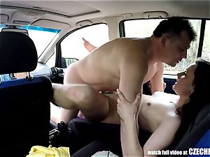 Sheriff Mirek Buying Street call girl for rump licking
