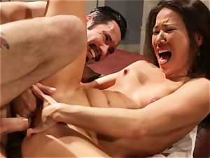Kalina Ryu gives a handsome glad finishing to this massage