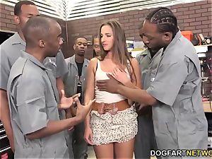Amirah Adara deepthroats An whole squad Of black folks