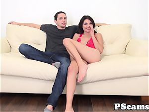webcam babe Adria Rae providing footjob