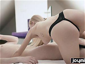 JOYMII- towheaded taut cootchie Nancy A meets yam-sized dick