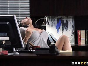 secretary Jayden Jaymes screws on the bosses desk