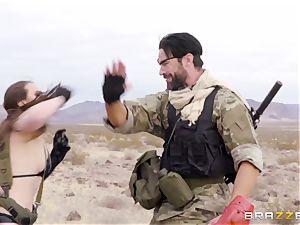 iron Gear Solid 5 anal invasion porno parody with insatiable dark-haired Casey Calvert