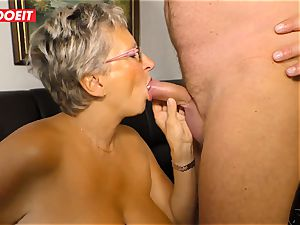 German granny likes tearing up her Neighbor #LETSDOEIT