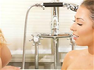 Bathtime g/g stunners Olivia Austin and Melissa Moore