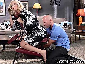 milf Simone massage-fucked by Johnny Sins