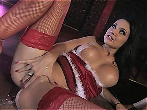 Aletta Ocean gets a off the hook treat from Santa's cock