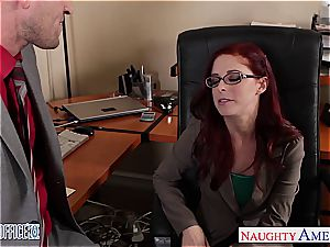 sandy-haired Penny the fresh office cockslut