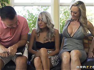 sitter Janice Griffith joins Brandi enjoy for a boning