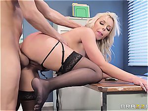 The chief' super-naughty wifey gets a blast of jism conformed in her beaver