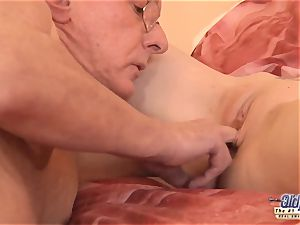 elderly young porno grandfather likes to pummel young femmes poon