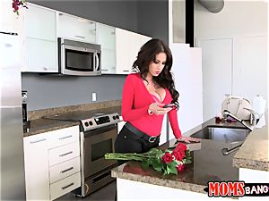 nutting on chocolates from valentines day with Sophia Leone and Sean Lawless