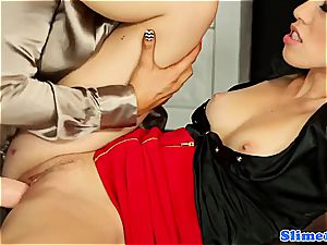 sumptuous Jenna cute and Tiffany female gets freaky for bukkake