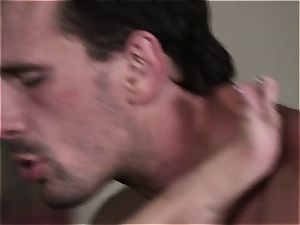 Selena Rose the office mega-slut helps her chief pull out the cum