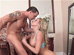 mischievous Samantha Saint is enjoying her man's cane rammed in her sweet facehole