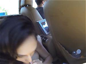 crazy Ariana Marie pulverizes 2 jizz-shotguns in public