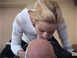 Sugar daddy plumbs his very first nubile she is so sexual