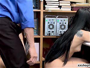 Gina Valentina and Miha Doan three ways bang-out with LP officer
