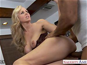platinum-blonde instructor Julia Ann porking a big black cock
