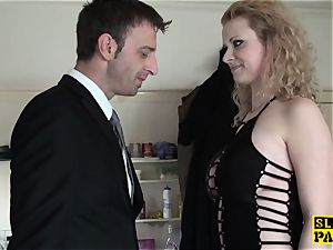 british domination & submission marionette butt-fucked before cuminmouth