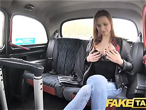 fake cab slim red-haired likes tough romp