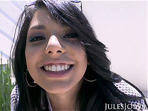 Jules Jordan - Gina Valentina's very first assfuck