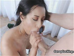 curvaceous lubricated Latina luvs meaty manmeat in her hatch