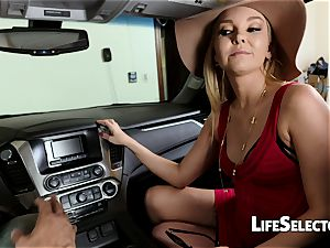 talkative milf Aaliyah love gives a blow-job in your car