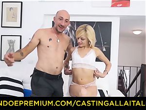audition ALLA ITALIANA molten platinum-blonde busts in hard assfuck