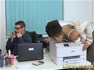 Dane Jones splendid teen ebony office gal
