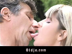 Gina Gerson gets anal from an old dude