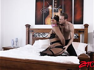 gimp milf Mercedes Carrera plunged with yam-sized chisel