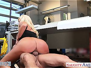 Summer Brielle at the office down for a excellent romp