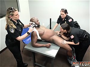hardcore police gang ravage and interracial double penetration cougar Cops