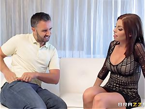 brown-haired Britney Amber gets an sudden hard-on cramming