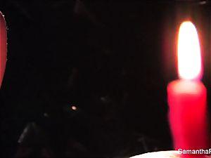 naughty candle joy with Samantha Saint