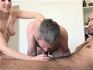 Niki Snow Makes husband deep-throat enormous black manhood