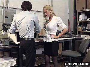 SheWillCheat - huge-chested cougar chief smashes fresh worker