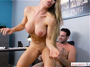 Nicole Aniston poking at work