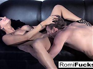 gorgeous tease followed by rigid sex with Romi Rain