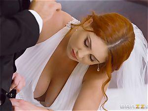 fabulous ginger-haired Lennox Luxe penetrated in her wedding sundress