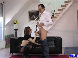fashionable cutie pussyfucked by naughty old man
