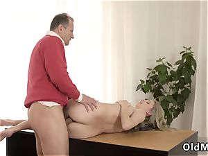 torrid blond with huge congenital mounds first time Stranger in a yam-sized mansion knows how to