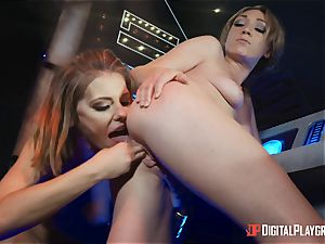 pussy loving lezzies Adriana Chechik and Lily Labeau bust on board