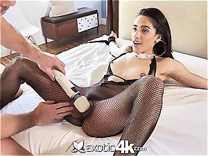 Exotic4k latin Adrian Hush strapped up fuck and creampie