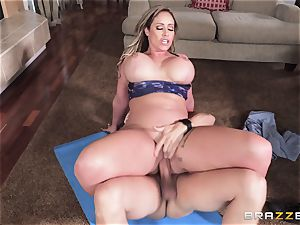 Eva Notty hungers additional jism topping from pizza stud